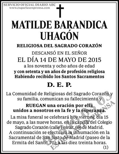 Matilde Barandica Uhagón